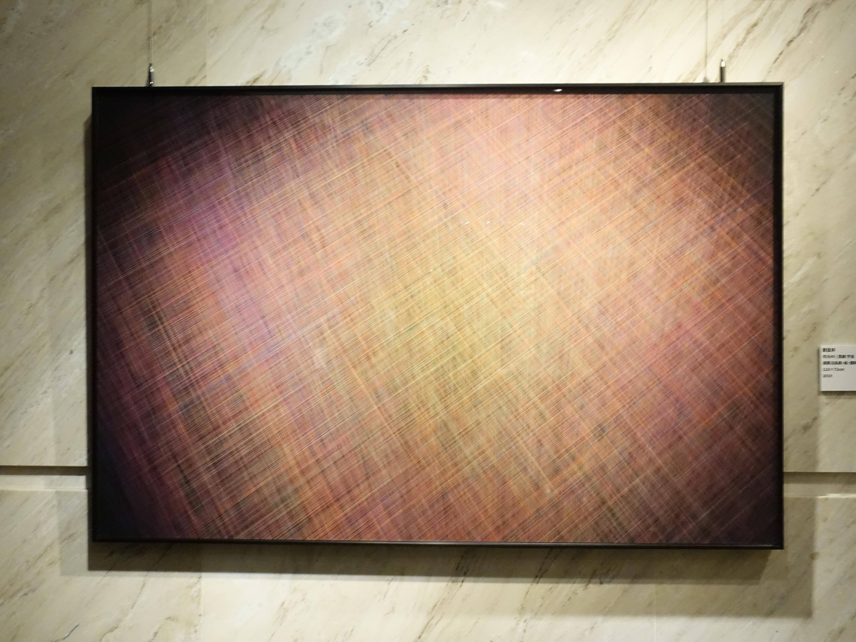 劉呈祥,《次元#9|思緒宇宙》,演算法系統、紙、顏料墨,110x73cm,2019。