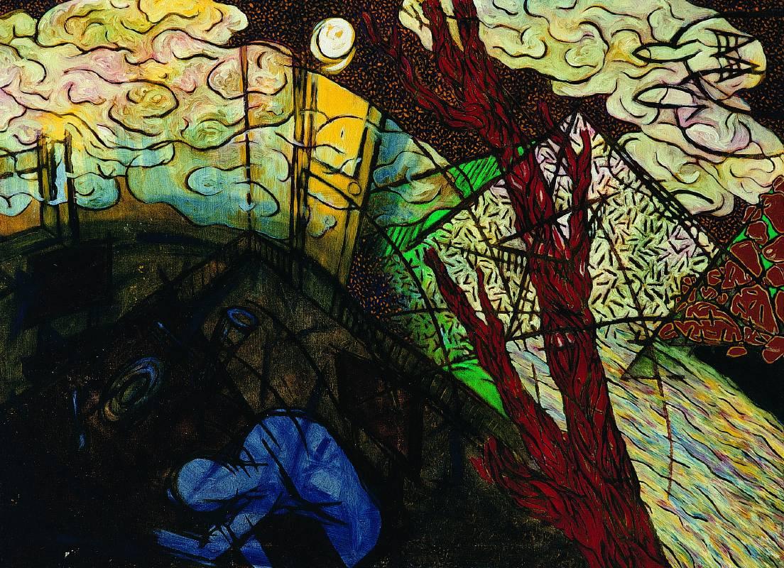 楊仁明 室內的風景 1989 油彩 100x72.5cm