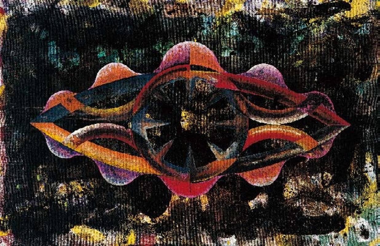 楊仁明 大光環 - 整型中的光環 1996 壓克力.油彩 72x100cm