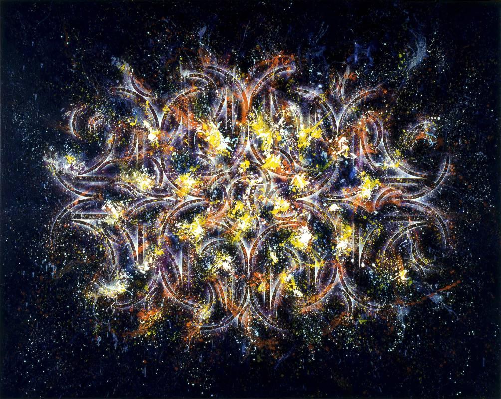 楊仁明 裝月光-分列式(五) 2008 壓克力.油彩 182x227cm