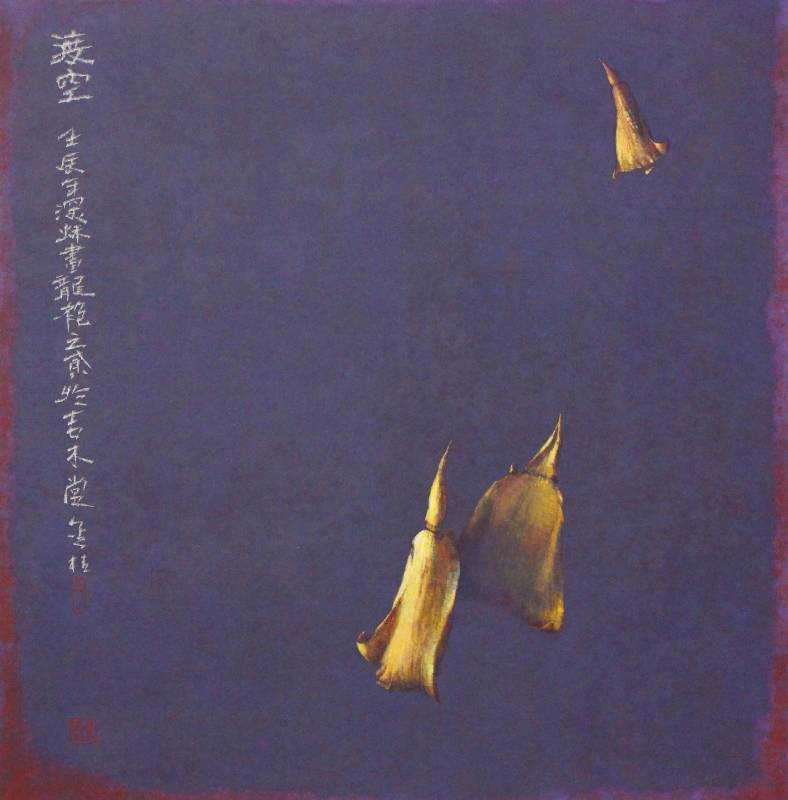 劉金桔, 渡空 Passing Beyond Emptiness, 壓克力、色粉、墨、宣紙, 71.5x70.2cm, 2012