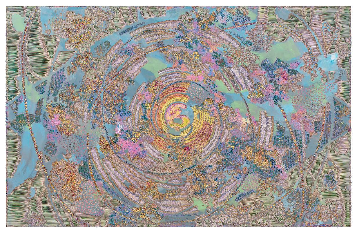 姜淼 Jiang Miao,天眼 No.25 Heavenly Eyes No.25,2019,120 x 190 cm