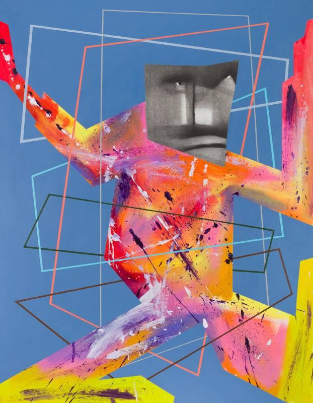 《框架效應二》,70x 90  cm ,複合媒材,2020