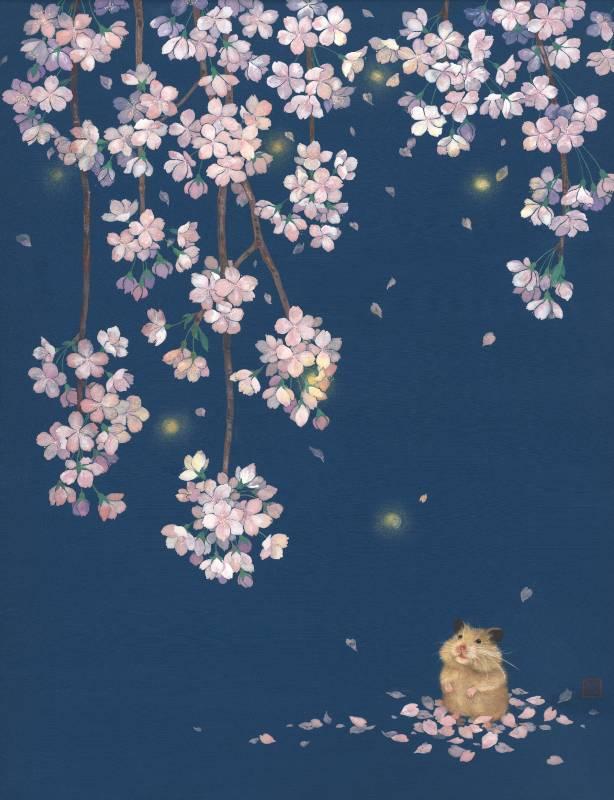許幼歆〈盼光〉65x50cm,高知麻紙、礦物彩,2020