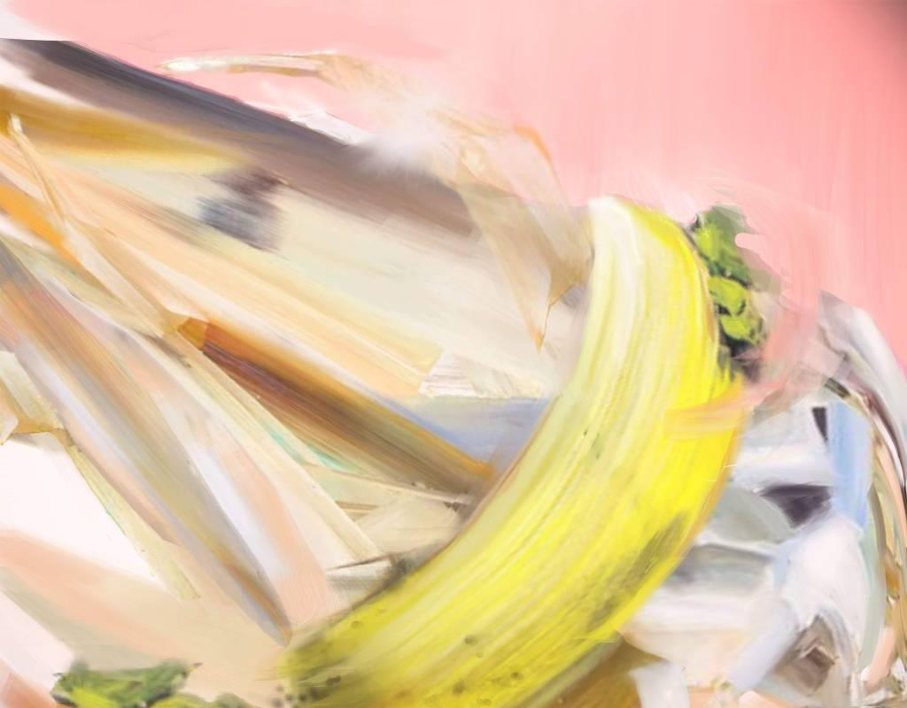游依珊 (1972-, Taiwan),漂浮 2019-11,油彩、畫布,65 x 80 cm,2019