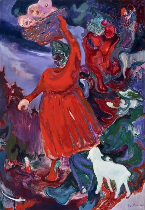 傅饒 Rao FU  《重生》 Renaissacce  2020 油彩、畫布 Oil on canvas  195 x 135 cm