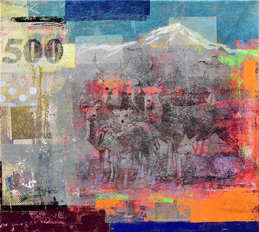 Houben Tcherkelov 500 Dollars 2017 複合媒材 76x83.5cm