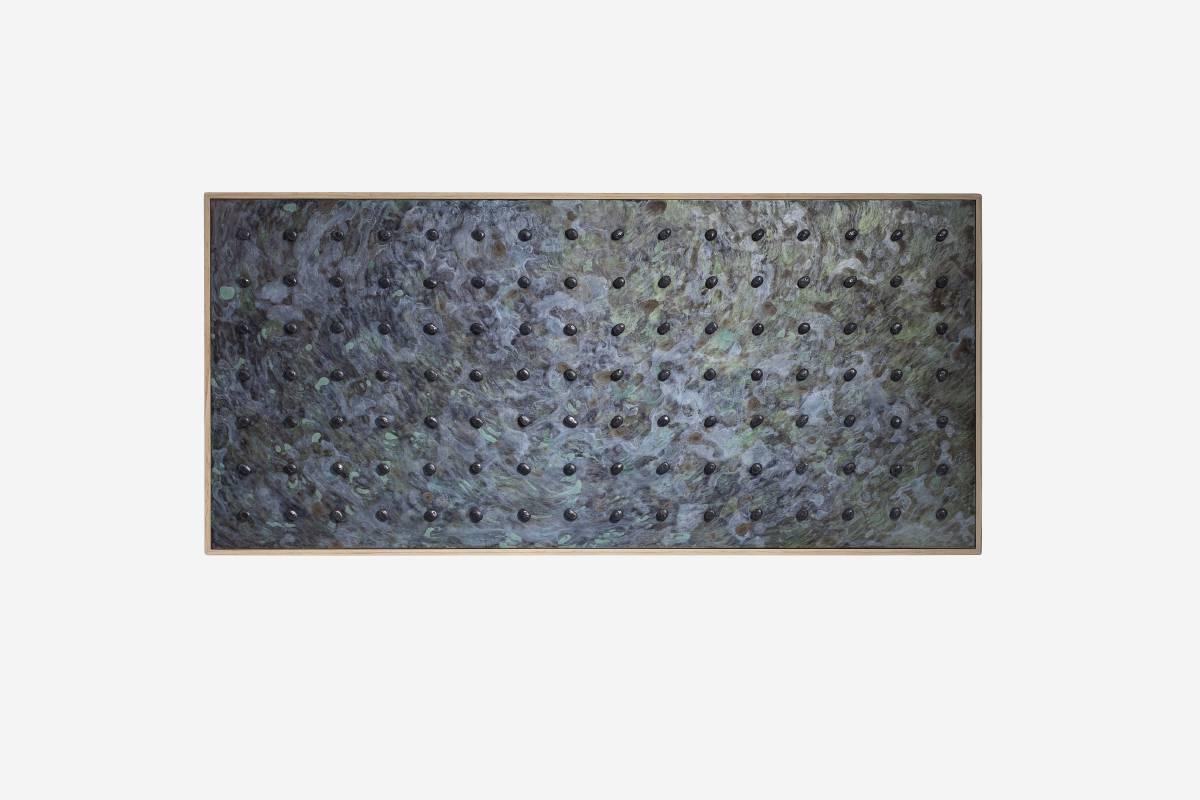 煉金術系列《幽幽》 117x54.5x7cm 木、壓克力漆、不鏽鋼 2019