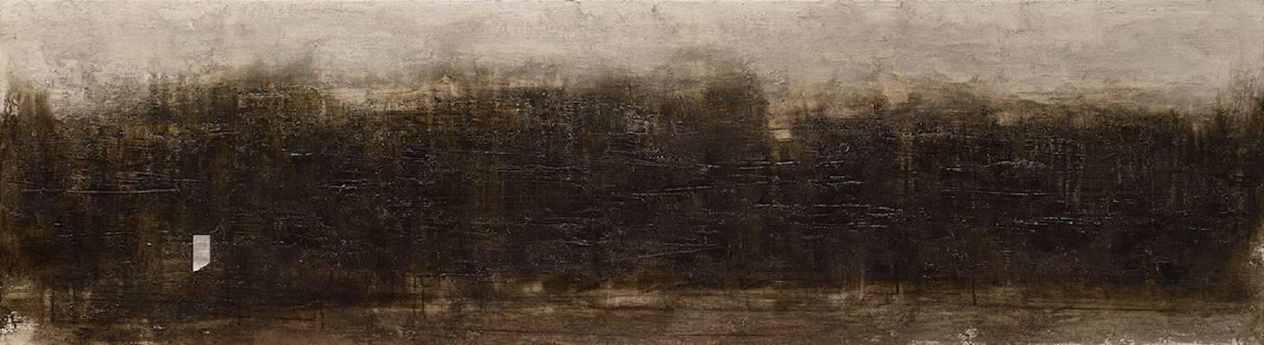 宋曉明SONG Sheau Ming_潮間帶 Intertidal_53x194cm_油彩、壓克力、炭筆、比利時畫布