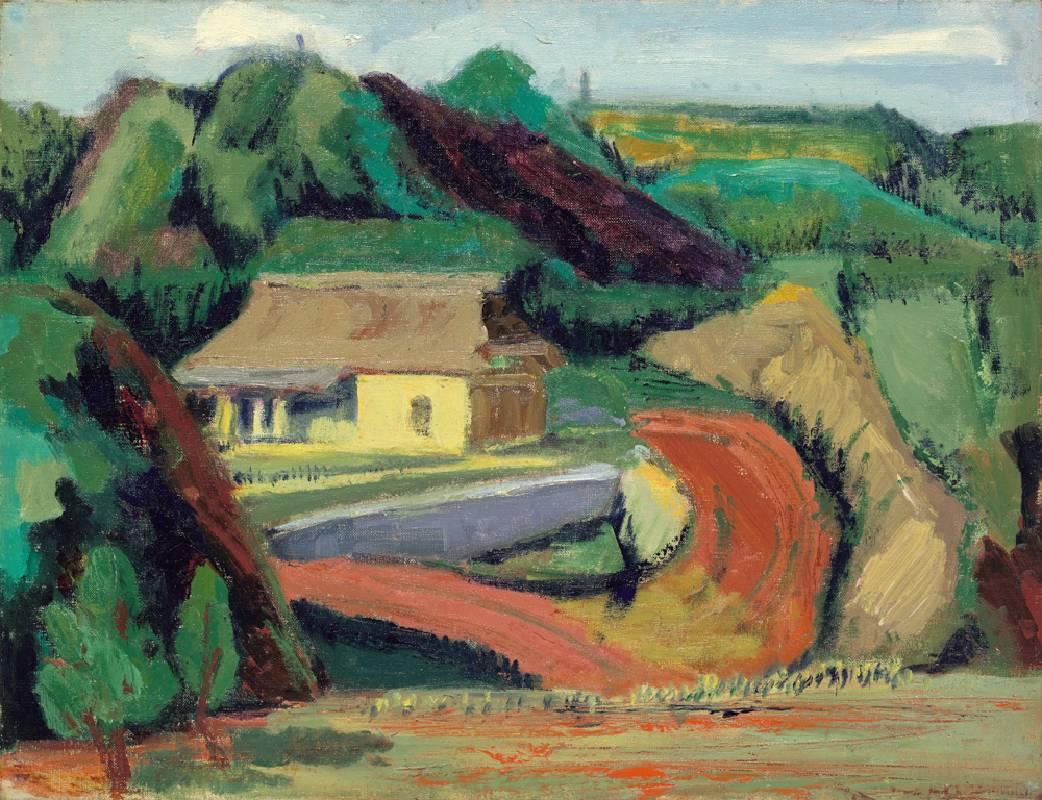 郊外風景, 油彩、畫布, 41x53cm (10P), 1970