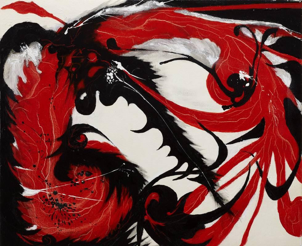太極 VII, 油彩、畫布, 50x60.5cm (12F),  2003