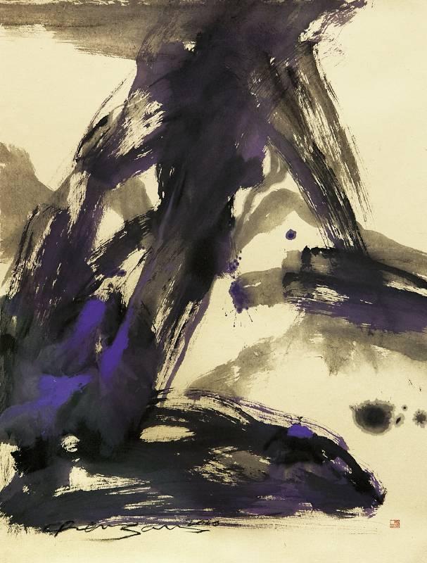 ➤ 塵三 Chen San, 天啓 Inspired by above, 96 x 114cm, Mixed Media On Paper, 2020