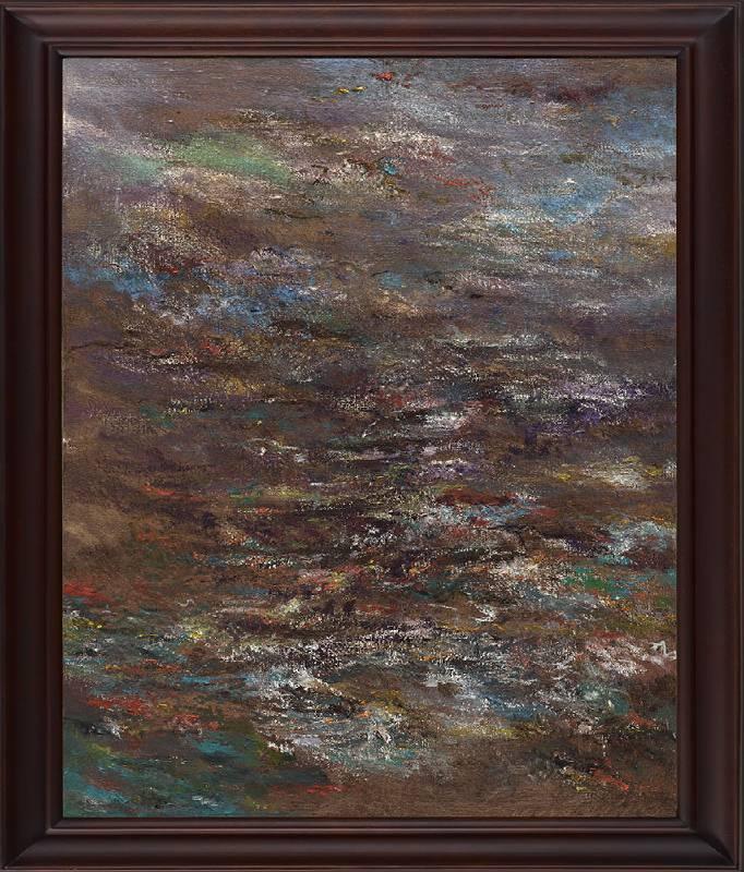 《反記憶 #4》 Antimemory #4  2020 油彩、畫布 Oil on canvas 76 x 61 x 5 cm