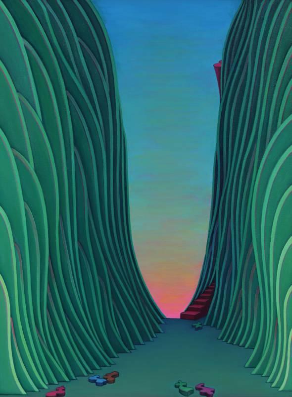 尋道59號, 油彩、畫布, 63.5x84cm,1994