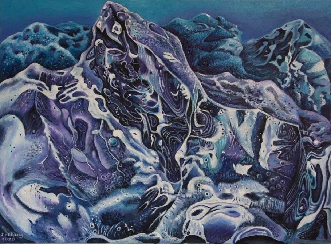 張瑞頻 ,《冰封系列五》130x97 cm,布面油畫 Oil on Canvas,2020。