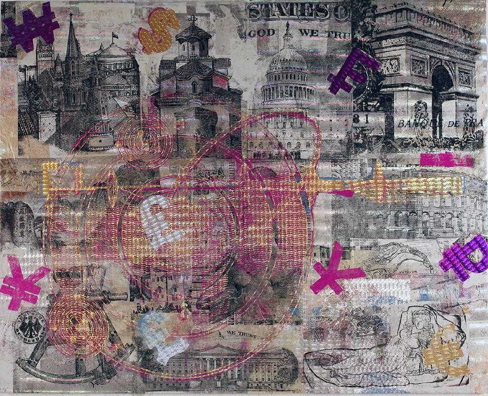 Houben Tcherkelov  All the money in the world 2020 綜合媒材 152.5x122cm