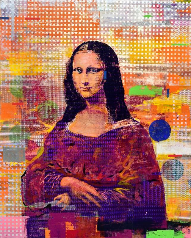 Houben Tcherkelov Mona Lisa 2018 複合媒材 152.3x121.8cm