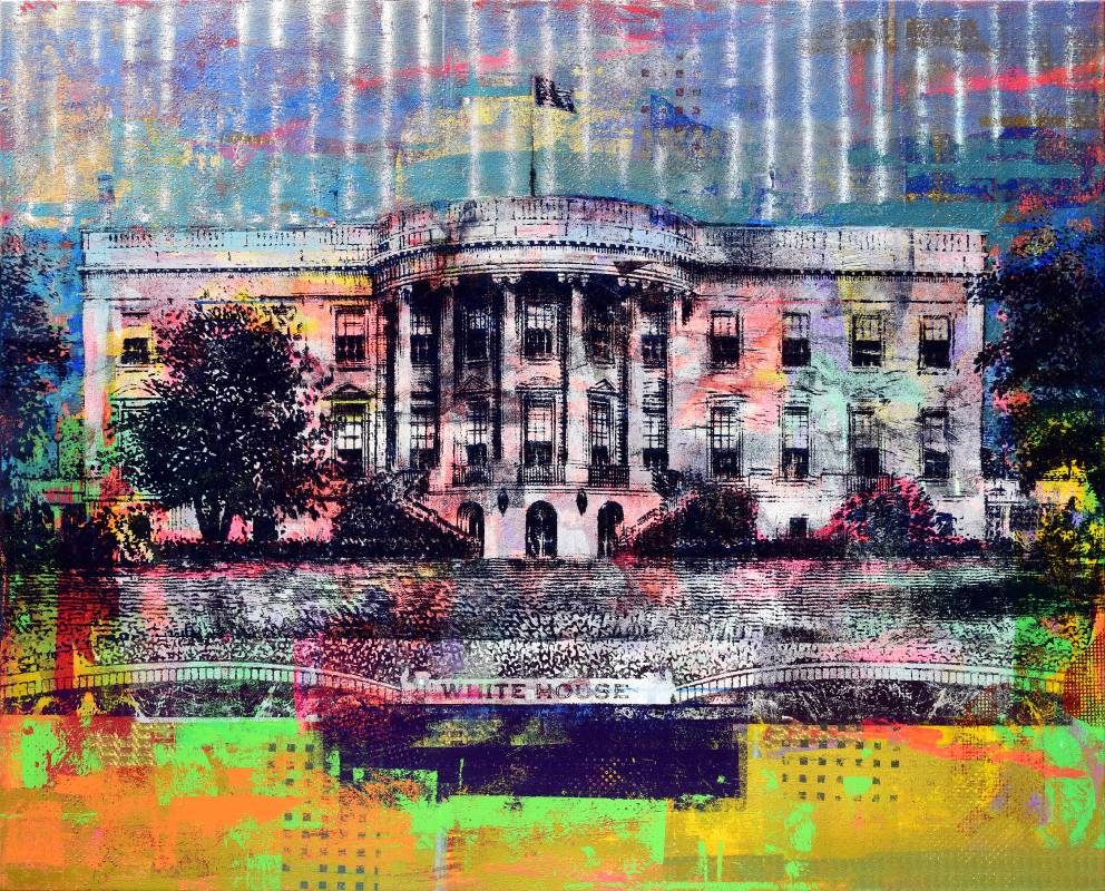 Houben Tcherkelov $20 whitehouse 2019 複合媒材 152.3x122.5cm