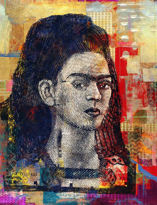 Houben Tcherkelov 500 Pesos Frida Kahlo 2020 複合媒材 152x122cm
