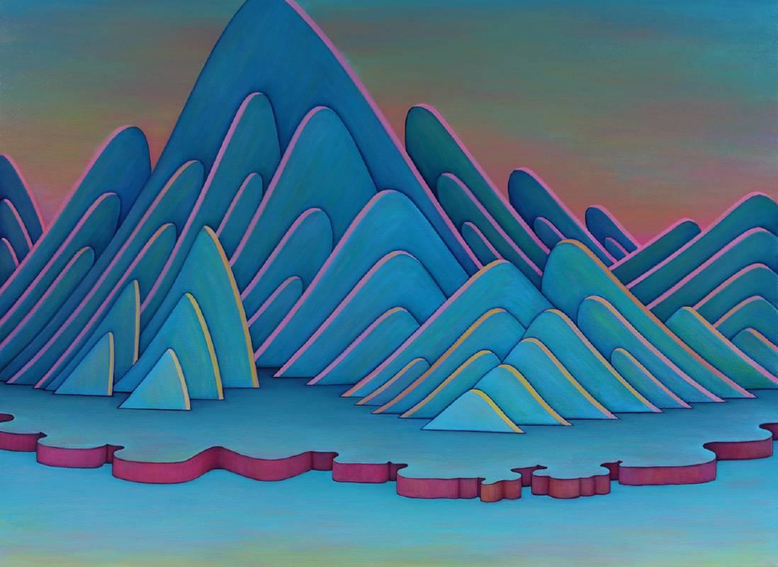 尋道143號,  油彩、畫布, 114x83.5cm, 2019