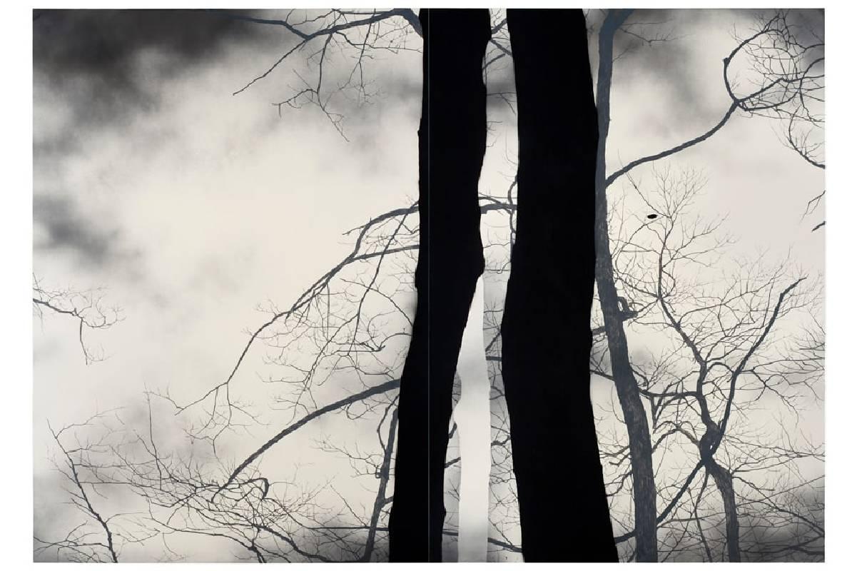 慵懶 (雙拼),201 x 287 cm,油彩、畫布