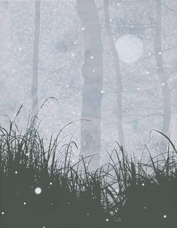 Snowing A 下雪了 A,116.5 x 91 cm,油彩、畫布,2019
