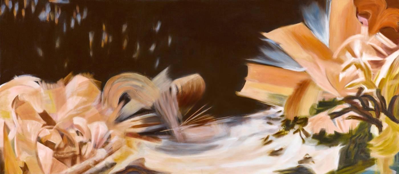 漂浮 2017-2 The Floating 2017-2,88 x 200 cm,oil on canvas 油彩、畫布,2017, NT$352,000.00