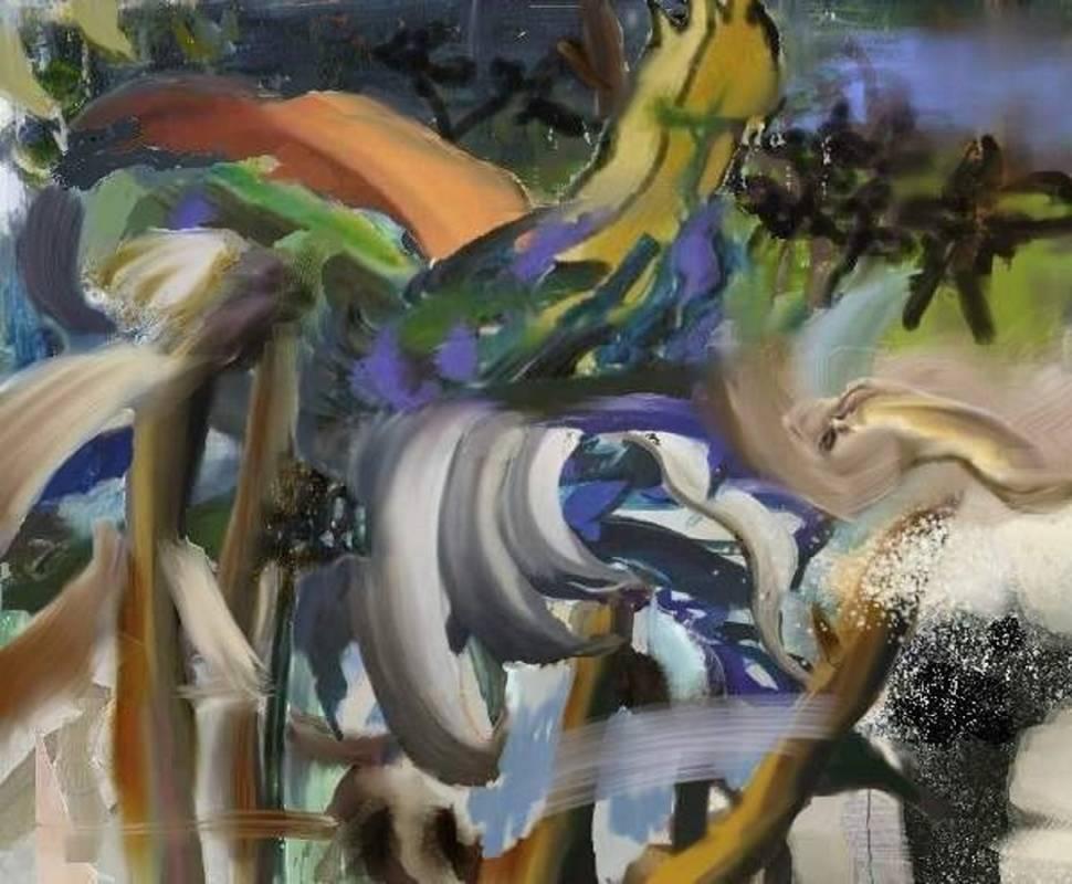 漂浮 2015-1 The Floating 2015-1,165 x 200 cm,oil on canvas 油彩、畫布, 2015, NT$660,000.00