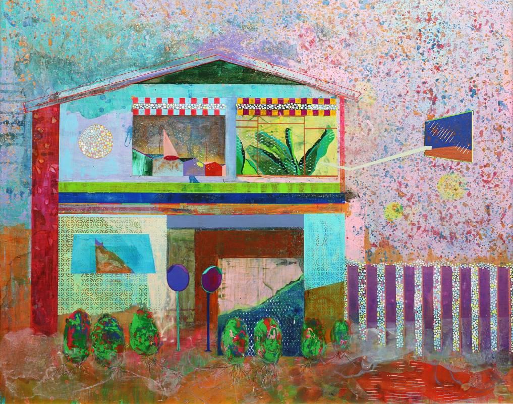 李怡萱 後菜園日誌 2016年 91cm×72cm 壓克力顏料,畫布  LEE, Yi-Hsuan  The diary about a backyard vegetable garden  Acrylic paint on canvas