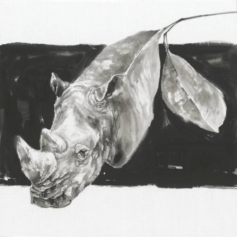 劉默霖 保護色 2019年 70x70cm 水墨,棉紙  LIU, Mo-Lin  Camouflage  Ink on cotton paper