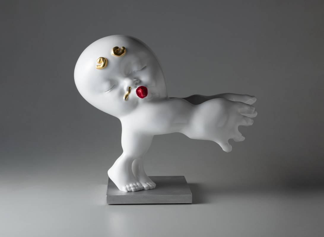 蔡尉成,《白白》,63x30x58cm,青銅,2020「單純的向前走 一直走 沒有猜疑和迷惑」