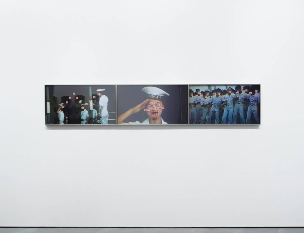 ©Chung Hsuan LAN 藍仲軒,藍仲軒 女神 Goddess, 2020,無酸噴墨相紙、郵票,86 x 48 cm 共3件