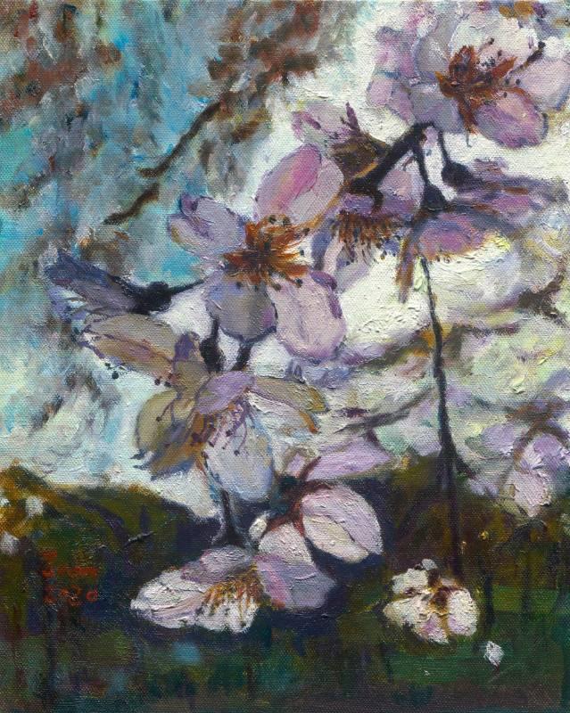 春櫻 , 27cm x 22cm 3F , 油畫