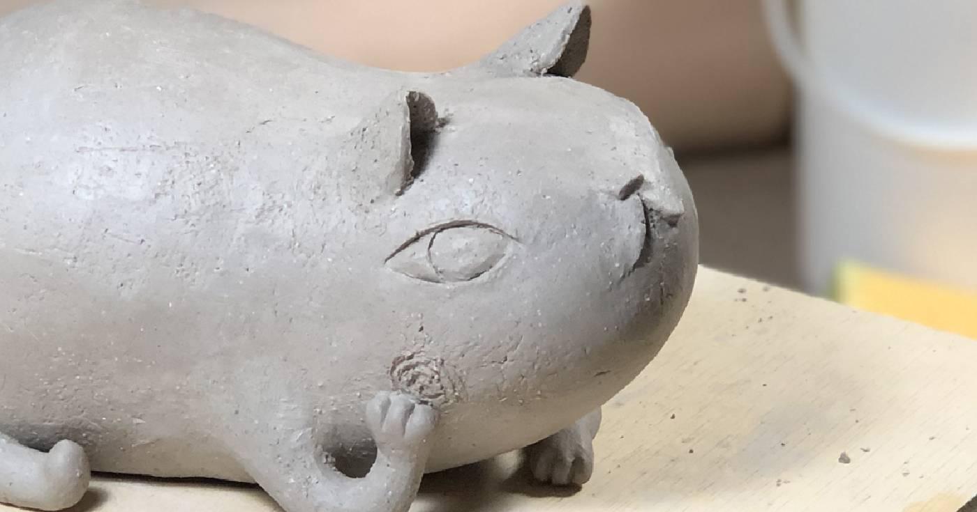 陶塑 Fishcat