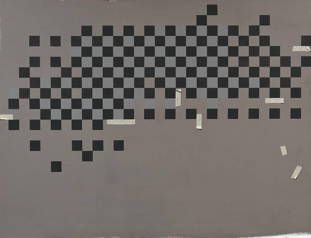 宋曉明SONG Sheau Ming_困惑 Perplexity_112x145.5cm_油彩、壓克力、比利時畫布Oil and acrylic on Belgium linen_2015