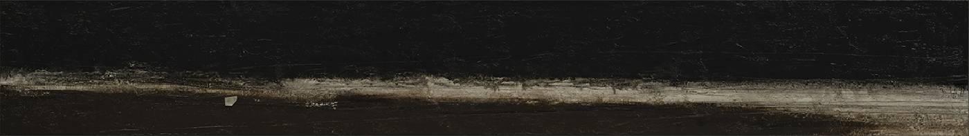 宋曉明SONG Sheau Ming_黑潮 Kuroshio_27x189cm_油彩、壓克力、炭筆、比利時畫布Oil, acrylic and charcoal on Belgium linen_2020