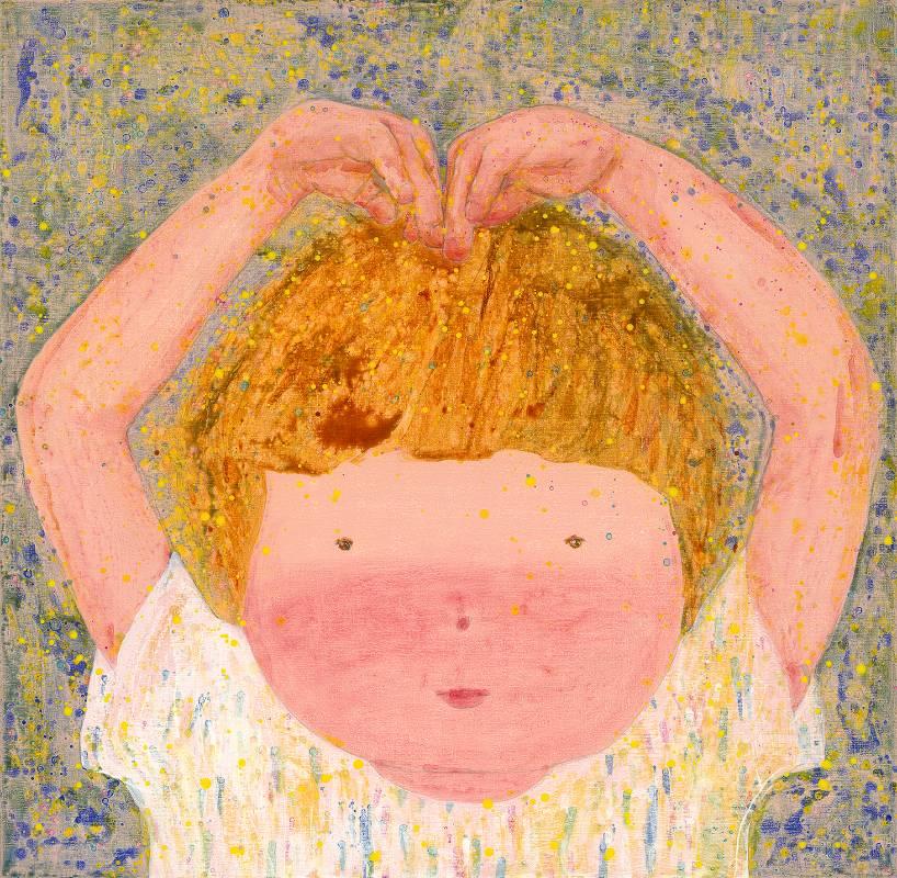 羅喬綾,愛你,2020,壓克力顏料、麻布,140x143cm