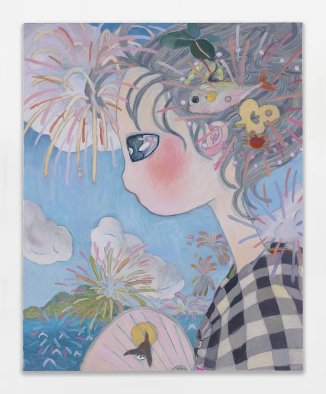 Aya Takano See you in the future, 2020 Oil on canvas 91 x 72.7 cm | 35 13/16 x 28 5/8 in ©2020 Aya Takano/Kaikai Kiki Co., Ltd. All Rights Reserved. Courtesy Perrotin