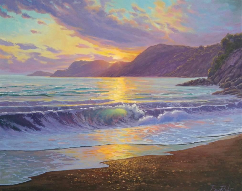 《地中海日落 Mediterranean sunset》油畫 92x73cm