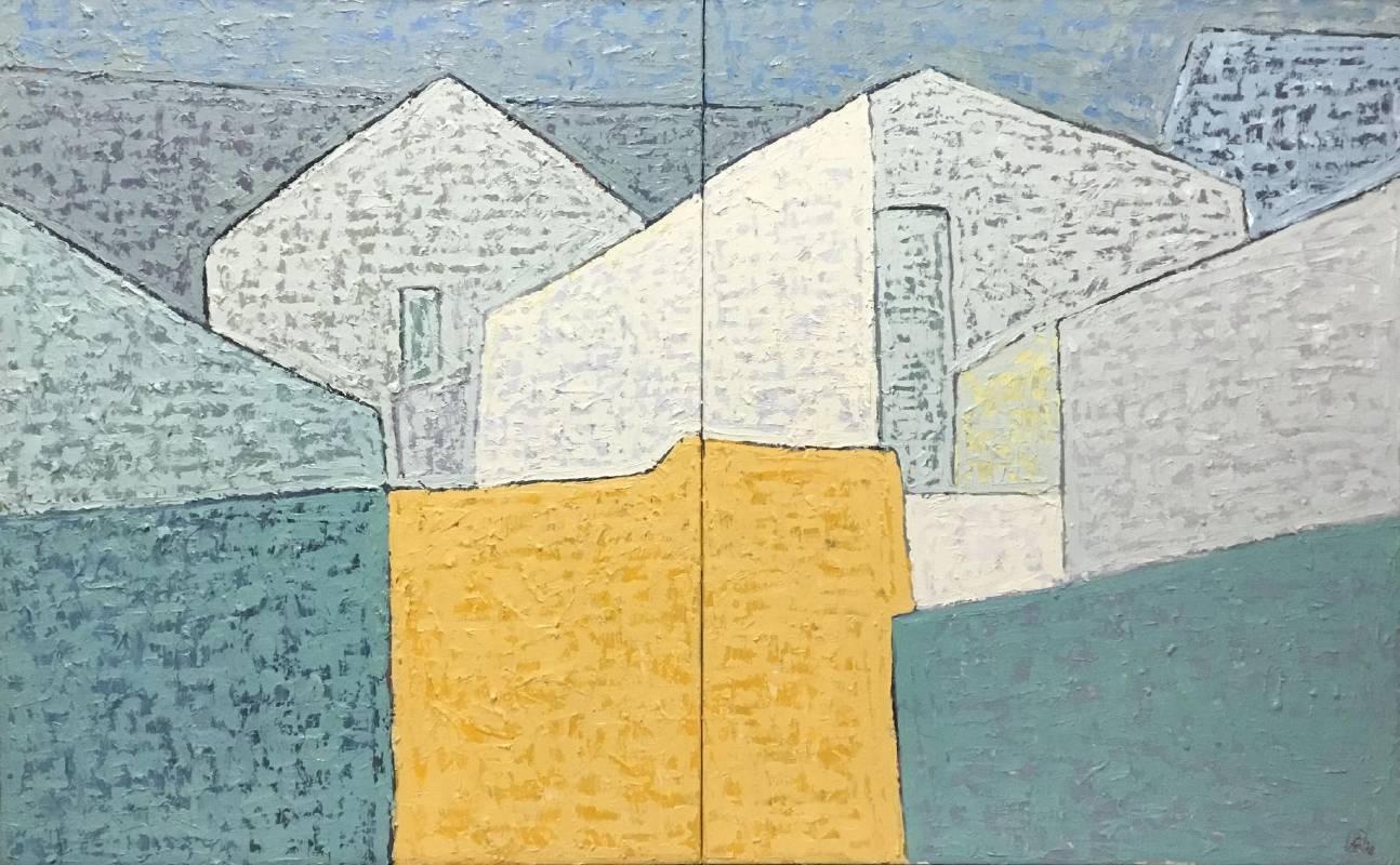 築形砌色_91x145cm_60號_油畫
