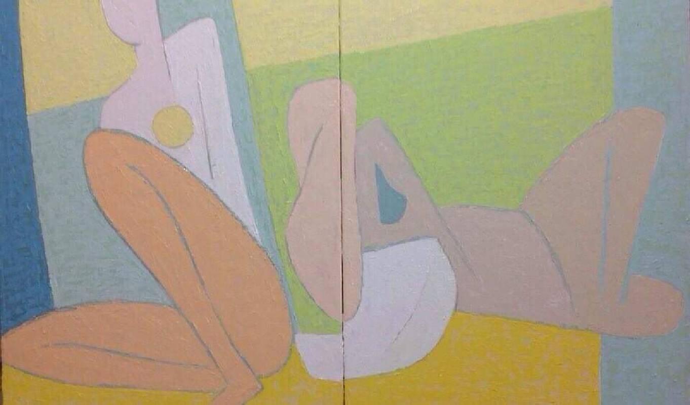 夏娃的姿態_91x145cm_60號_油畫