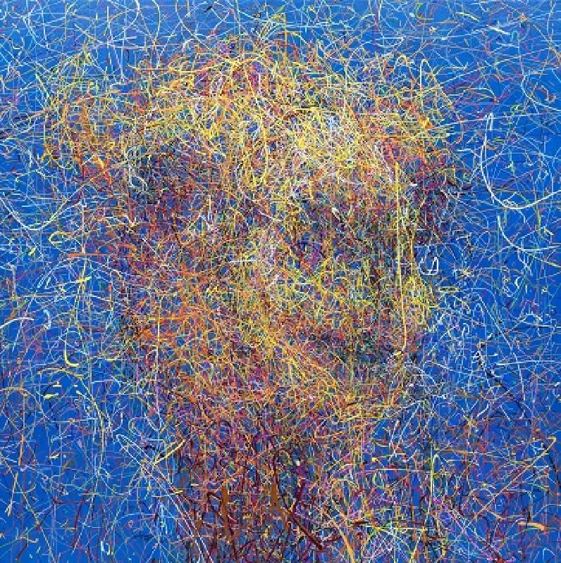 笑獸75#微笑駱駝。133x133cm