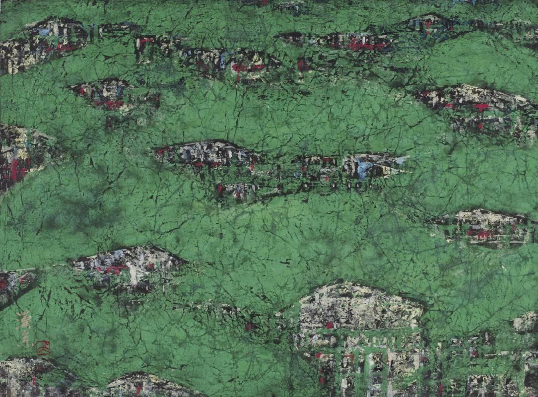 古城民居 35x45cm 吳漢宗