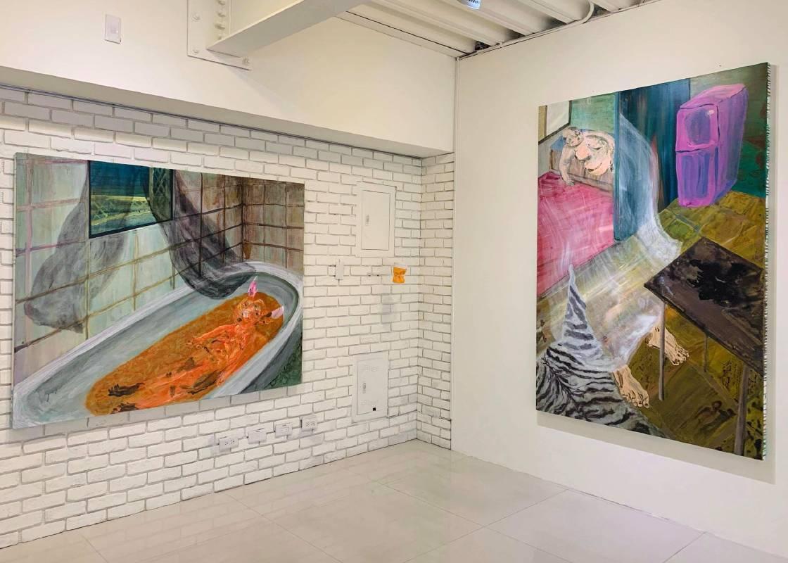 蔡瑞恒作品於「不延綿的景與微光 第四章 :房門裡的海市蜃樓」展場照©藝術家提供