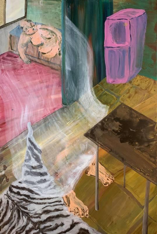 燒焦的味道Burnt Smell-蔡瑞恒 CAI-RUEI HENG-2020-194X130cm- Acrylic©藝術家提供
