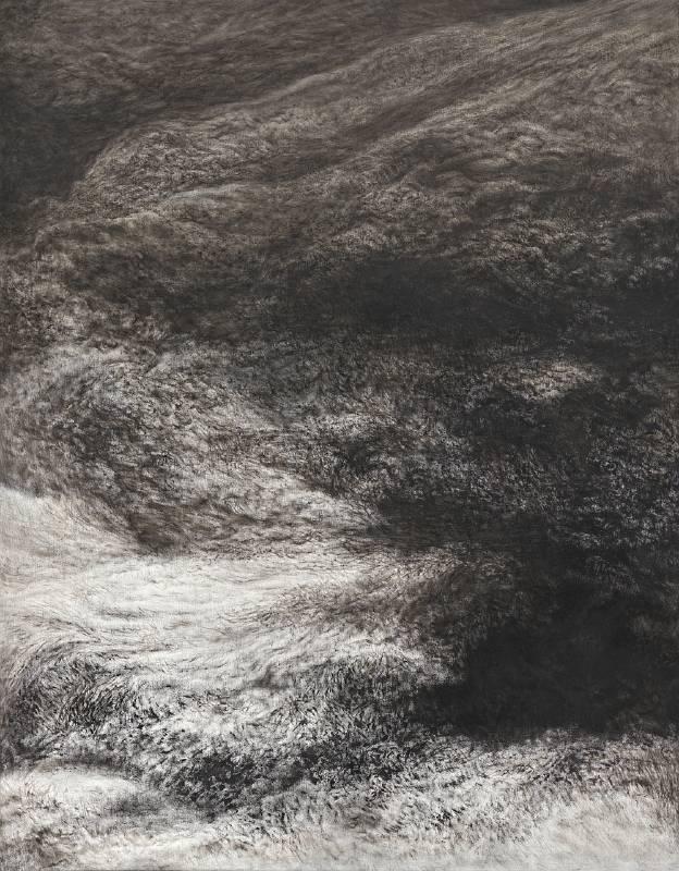 林煒翔《心景(六)》 2020 油彩、畫布 116.5 x 91 cm。圖/安卓藝術提供