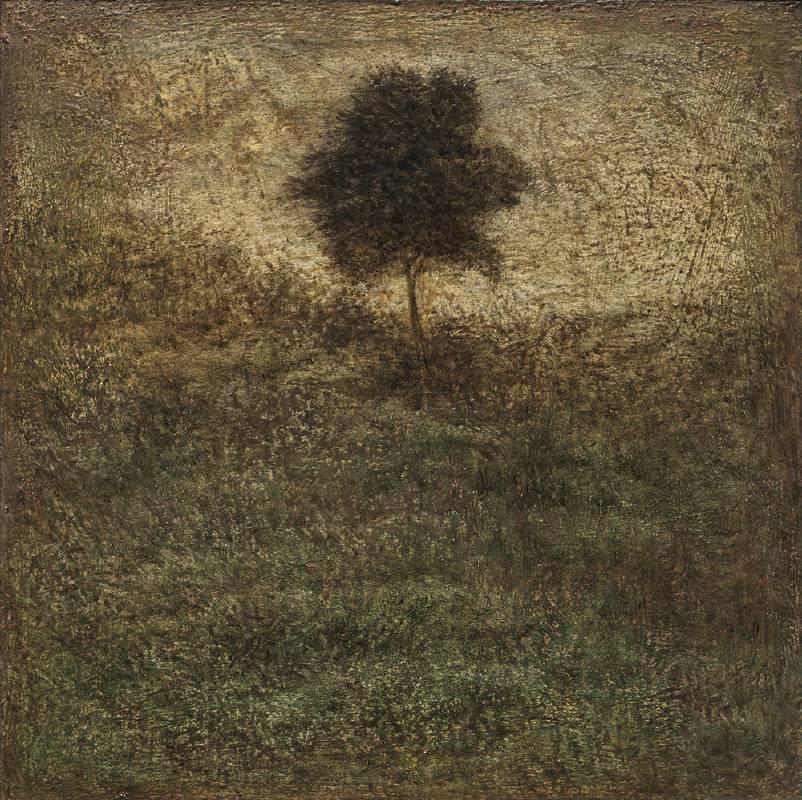 林煒翔《小樹知道(六)》 2020 油彩、畫板 30.5 x 30.5 cm。圖/安卓藝術提供