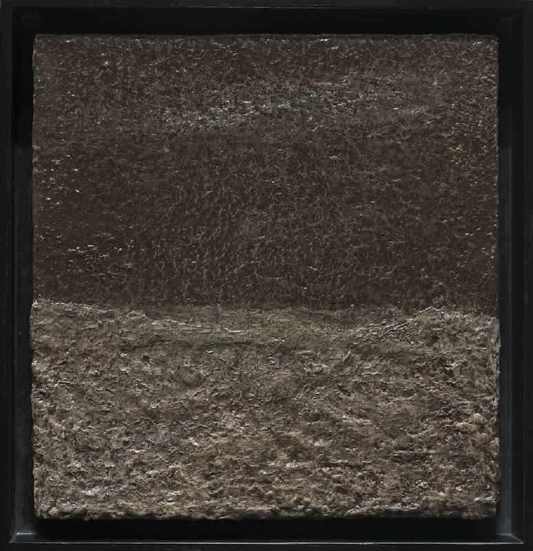 林煒翔《荒原》 2020 油彩、木板 23.5 x 22.5 cm。圖/安卓藝術提供
