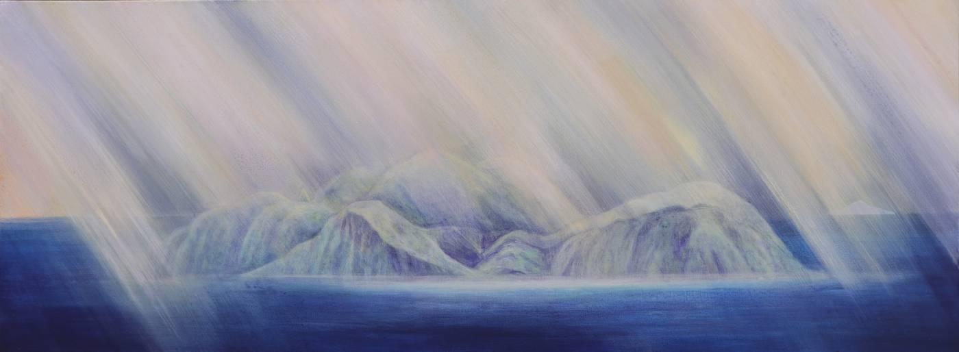 葉海地,《純白之島》,61×163公分,2018。圖/台北當代藝術館提供