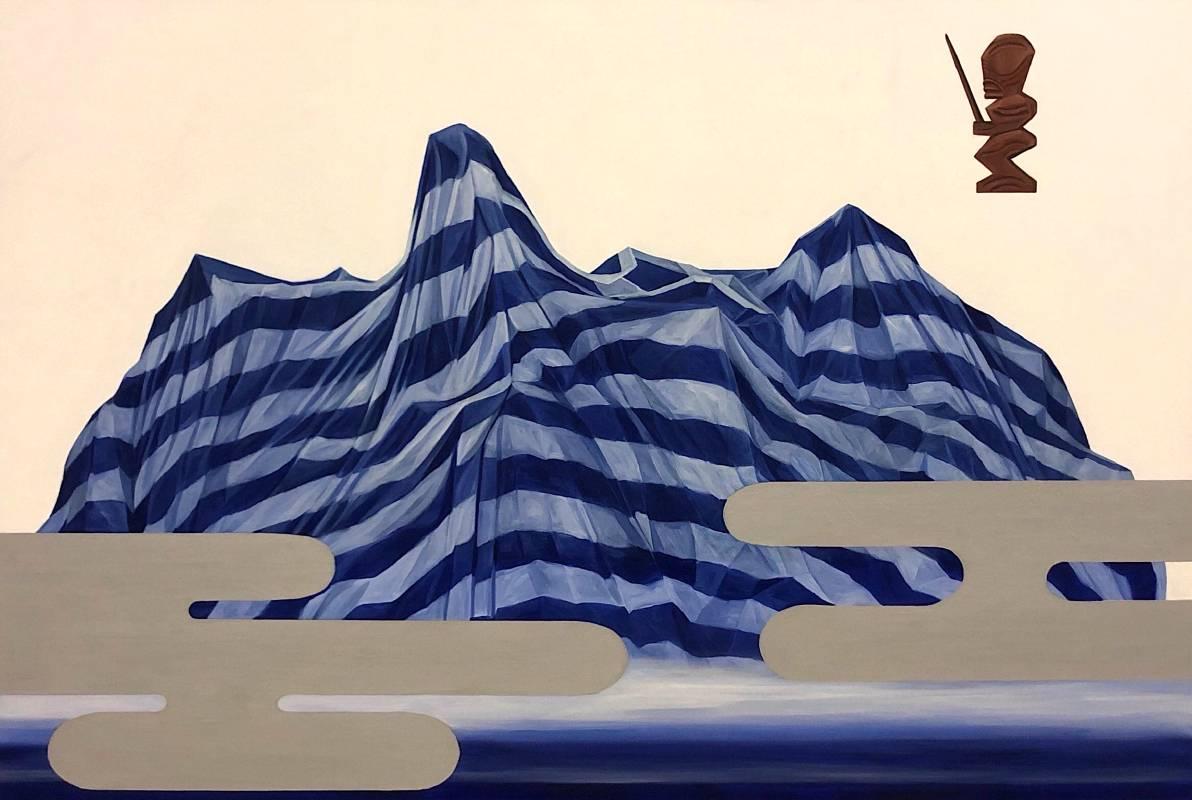 封島,油彩、畫布,100x150x5cm,2019
